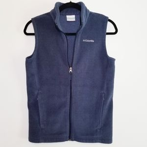 Columbia boy's fleece vest navy blue size L 14/16